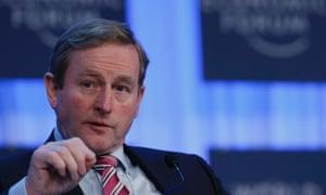 Ireland's Taoiseach Enda Kenny in Davos.