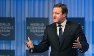 Cameron talks tough on tax at the WEF in Davos.