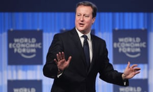 Britain's Prime Minister David Cameron shows his jazz hands during the annual meeting of the World Economic Forum in Davos, Switzerland. Read our report on the day's events.