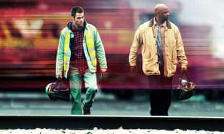 Denzel Washington with Chris Pine in Tony Scott's Unstoppable.