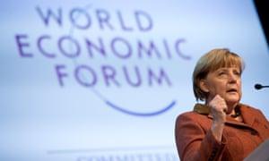 Merkel hits back at criticism of Germany.