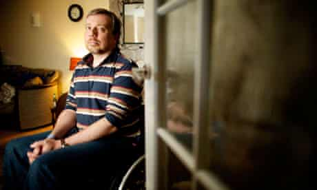Diabled Iraq war veteran Adam Douglas