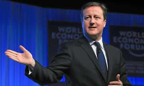 David Cameron at the World Economic Forum, Davos