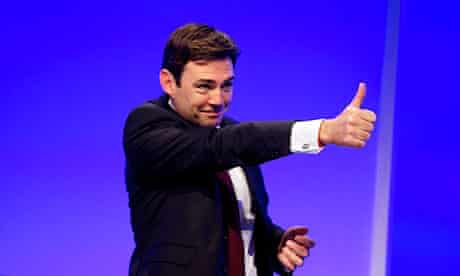 Andy Burnham thumbs up