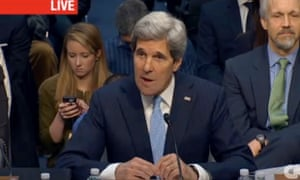 John Kerry testifying before the Senate Foreign Relations Committee in a screen grab from CNN.