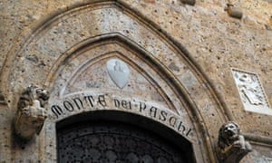 The headquarters of the Monte Dei Paschi di Siena bank, the world's eldest running bank. Photograph: AFP/Getty Images. Guiseppe Cacace