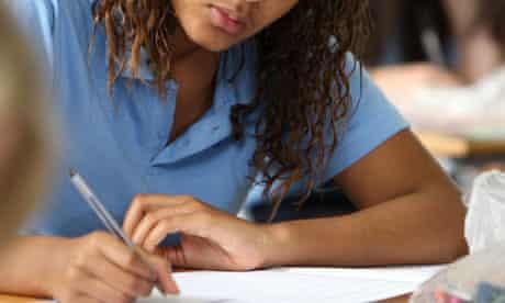 Sixth former doing exams
