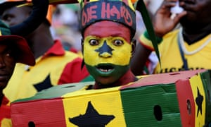 In vivid style Ghana's supporters cheer their team ahead of the 2013 Africa Cup of Nations football match against Mali at Nelson Mandela Bay Stadium in Port Elizabeth, South Africa.