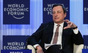 European Central Bank president Mario Draghi in Davos.