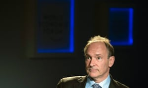 Tim Berners-Lee, inventor of the world wide web, called social networks 'silos' when he spoke in Davos today.