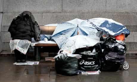 homeless trafalgar square