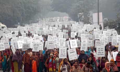 March against rape in New Delhi, India