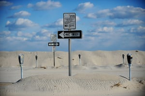 20 Photos: Parking meters stand out from sand dunes in New Jersey