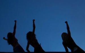 Femen: FEMEN members demonstrate at the congress centrum