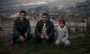 Christian family from a Christian-Sunni village near Latkia, Syria