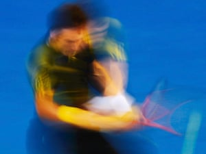 Murray's power becomes a blur.