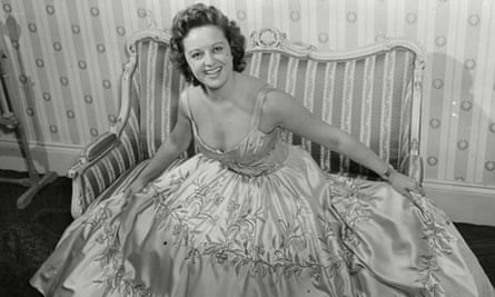 Lizbeth Webb Actress In Ball Gown 1955.