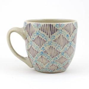 Simple things: Kantha-stitched mug