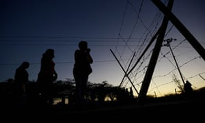 Inmates' relatives gather outside Venezuela's Uribana prison in search of information