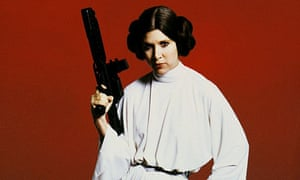 Carrie Fisher as Princess Leia of Star Wars