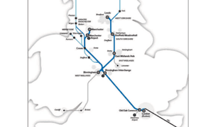 Route of HS2