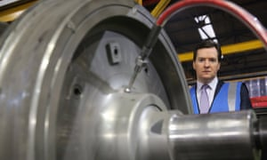 A wheel tappers' and shunters' club member? George Osborne on a tour of the train wheel manufacturers Lucchini UK, at Trafford Park in Manchester, England. The government has today released details of the next phase of the HS2 high-speed rail network.