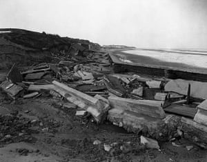 Floods 1953:  breaches in the sea wall of Mablethorpe