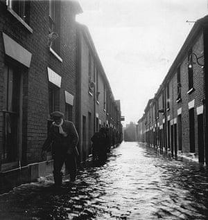 Floods 1953: In A Backstreet In Great Yarmouth Norfolk