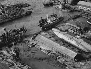 Floods 1953: Flood Scenes At Sheerness Docks In Kent