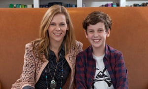 Adele Parks and son Conrad