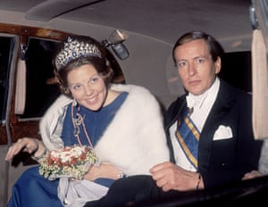 Queen Beatrix: Princess Beatrix and Prince Claus leave the Savoy Hotel in London