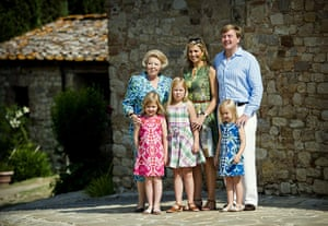 Queen Beatrix: Queen Beatrix with  Princess Maxima, Prince Willem-Alexander