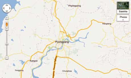Google's North Korea map