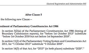 Lords amendment