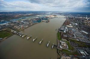 1953 floods:  Royal Victoria Docks, the River Thames, Thames Barrier
