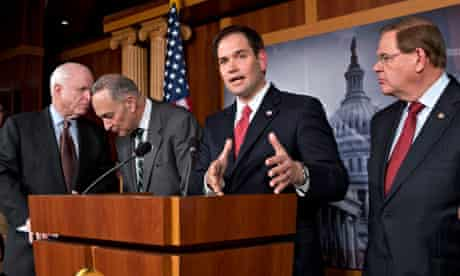 John McCain, Charles Schumer, Marco Rubio, Robert Menendez on immigration reform