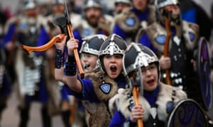 The vikings taking part in Shetland's Up Helly Aa  festival come in all sizes. The event was introduced by men returning from the Napoleonic Wars of the early 19th century and takes place annually on the last Tuesday of January.