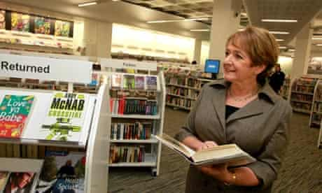 Margaret Hodge in public library