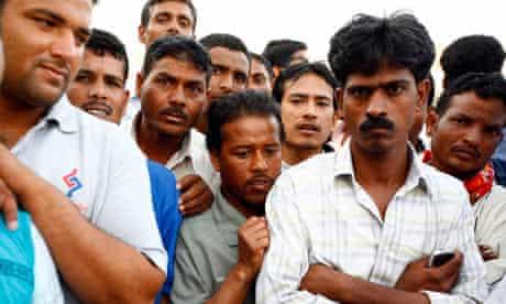 Migrant labourers, Dubai, 2008