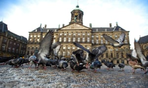 Here's a different take on a bird's eye view of the Royal Palace in Dam Square, where Dutch Queen Beatrix will sign her abdication in favor of her son, Prince Willem-Alexander, in Amsterdam. Queen Beatrix, who turns 75 on Thursday, announced she was abdicating in favour of her son, Prince Willem-Alexander, telling her country it was time to hand the crown to the next generation after more than three decades on the throne.