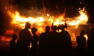 Now it's all going up in flames at the Up Helly Aa Viking festival in Shetland. Every year a new boat is built and burned after a torch lit procession.