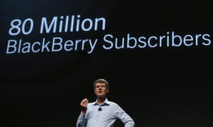 Research in Motion CEO Thorsten Heins speaks during the BlackBerry Jam 2012 conference on September 25, 2012 in San Jose, California.