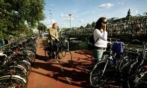Bike racks in Amsterdam