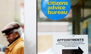 Man outside Citizens Advice Bureau