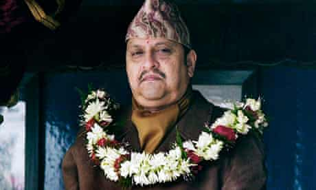 Nepal's King Gyanendra in 2007, before he was deposed and the Nepalese monarchy abolished
