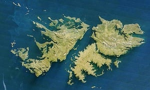 Falkland Islands satellite image