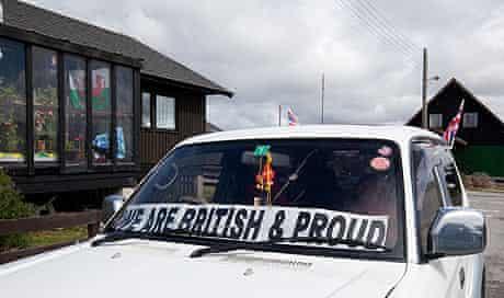 Falklands: Pro-British car in Port Stanley