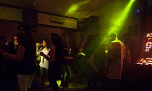 Disco night in Deanos Bar on the Falkland Islands