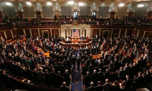The House of Representatives of the 113th Congress convene in Washington DC.