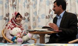 Malala Yousafzai with her father Ziauddin